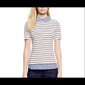 Tory Burch Alexandria striped floral print top